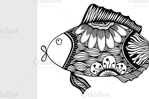 fish with floral elements