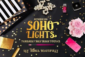 Soho Lights, City Slick Typeface