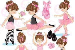 Ballerina Clipart, Ballet, AMB-1306