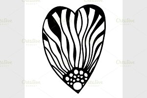 Vector heart-shaped pattern