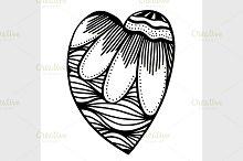 Vector heart-shaped pattern