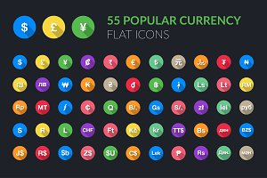 165 Popular Currency Flat Icons