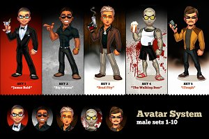 Dressup Avatar: male sets 1-10