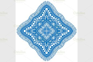 blue detailed mandala