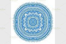 blue detailed mandala