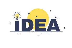 Idea vector concept with lightbulb