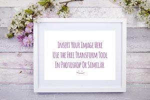Frame Mockup Floral Horizontal