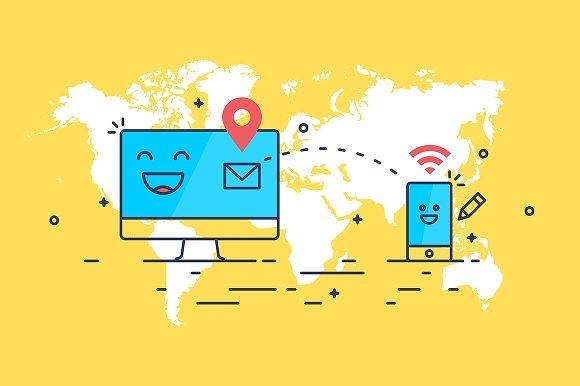 Internet mail sending concept