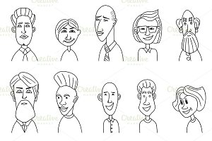 Sketch people icons