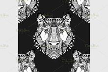 Tiger pattern. Vector illustration