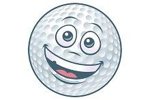 Cartoon Golf Ball Character