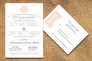 Handcrafted Wedding Invitation Pack