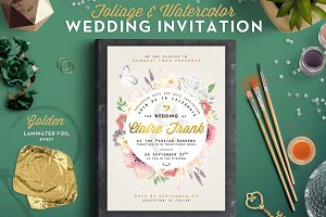 Foliage&Watercolor Wedding Invite II