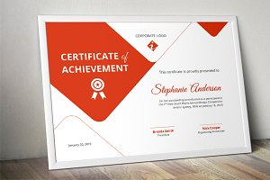 Creative certificate template (docx)