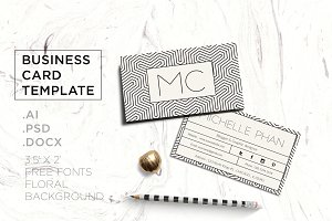 Geometric business card template