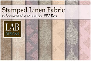 16 Stamped Linen Fabric Textures