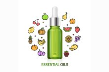 Aromatherapy Concept. Vector