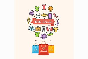 Big Sale Concept. Vector