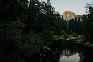 Half Dome during Sunset