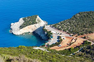 Summer cape view on Ionian Sea