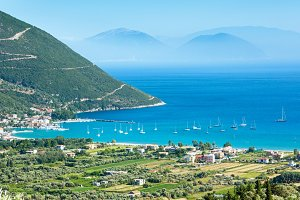 Lefkada coast (Vasiliki, Greece)