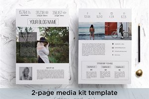 Modern 2-page media kit template