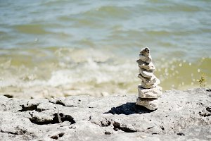 Zen Stack of Stones