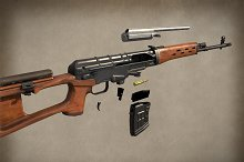 AAA SVD Dragunov Sniper Rifle by  in Weapons