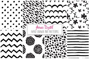 Hand Drawn Vector Patterns - Papers