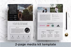 Modern media kit template