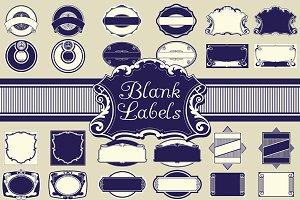 Vintage Blank Labels