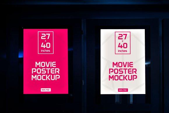 Movie Poster Mock Ups Product Mockups Creative Market