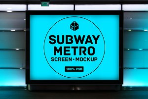 Subway Metro Screen Mock-Ups