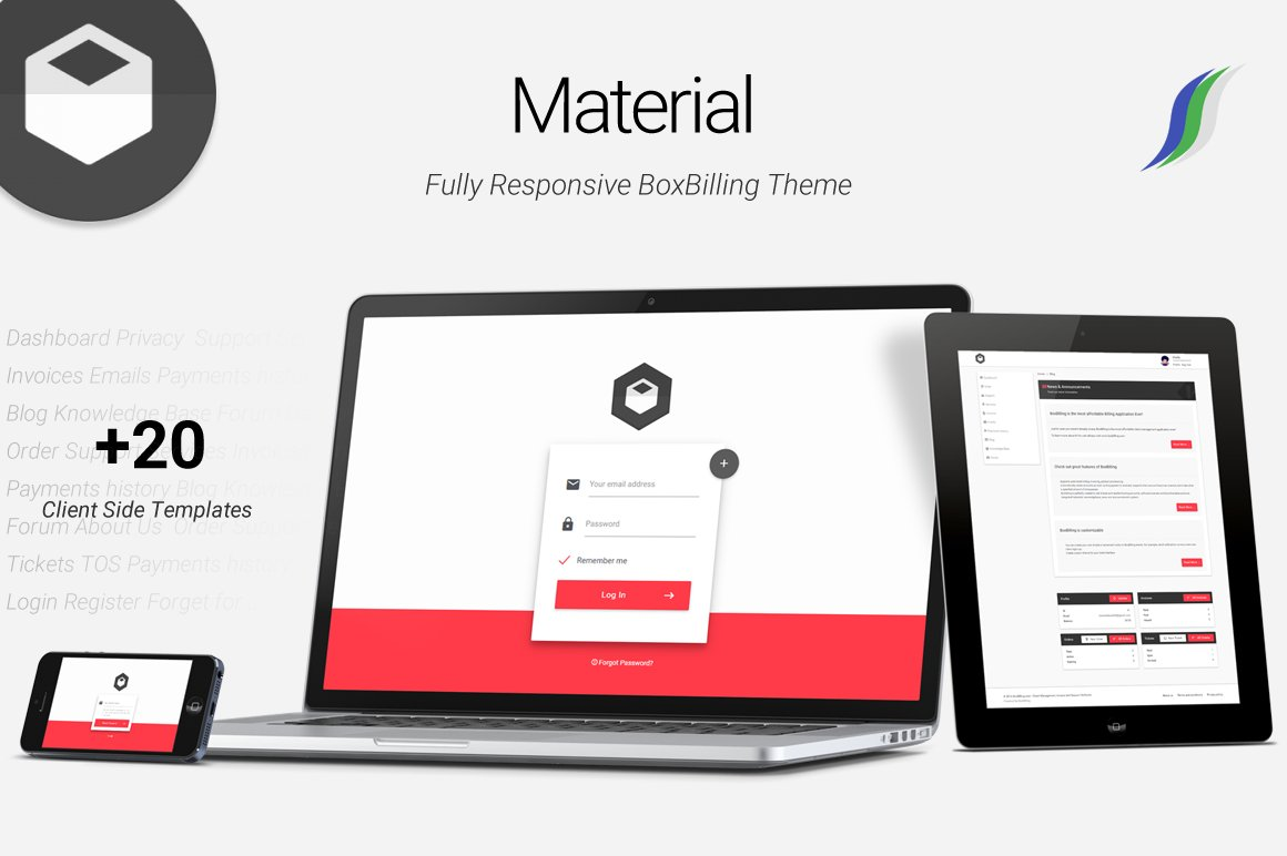 material premium boxbilling theme html css themes on creative material premium boxbilling theme html css themes on creative market