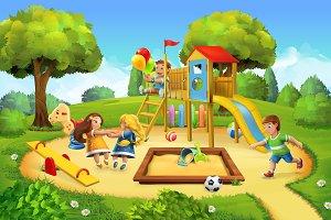 Park, playground