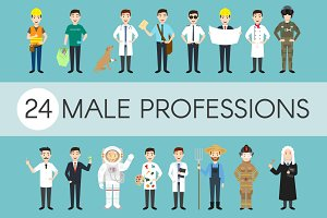 24 different male professions
