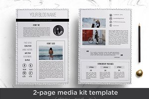 Elegant 2-page media kit template