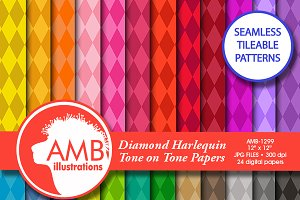 Diamonds Pattern Digital Paper, 1299