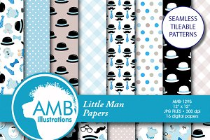 Baby Boy Digital Papers, 1295