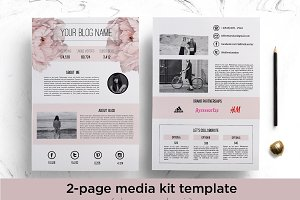 Floral media kit template