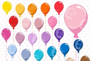 Birthday Party Balloons Clipart 1197