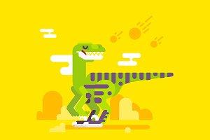 Velociraptor dinosaur character