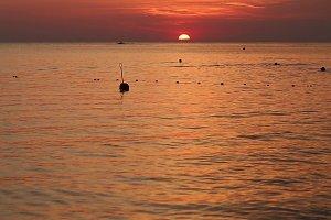 Sea sunset.
