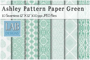 10 Green Seamless Pattern Textures