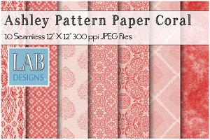 10 Coral Seamless Pattern Textures