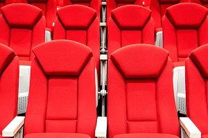 Modern red theatre
