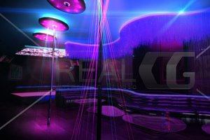 3D render of Night Club Interior