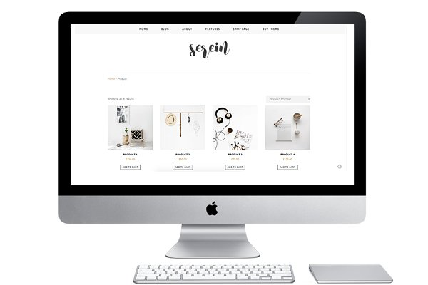 WordPress eCommerce Themes: Light Morango - Responsive WP Theme - Serein