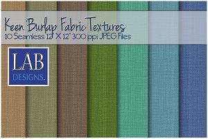 10 Keen Burlap Fabric Textures