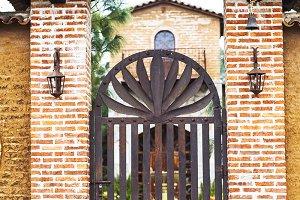Mexican hacienda, ranch plaza.
